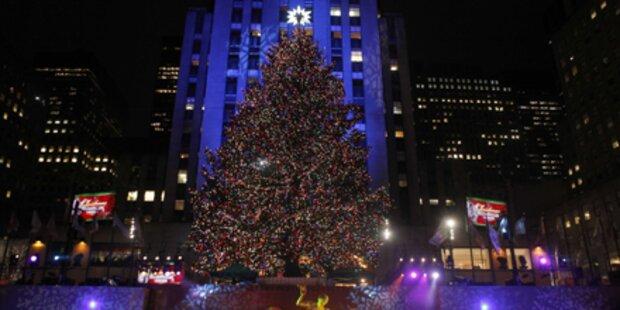 Schönster Christbaum der Welt leuchtet