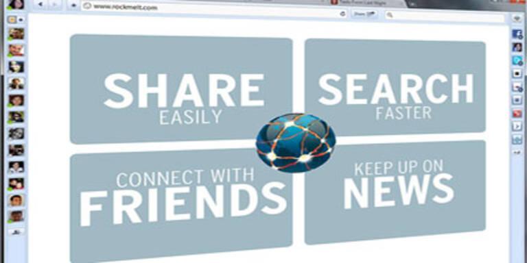 """Facebook-Browser"" RockMelt gestartet"