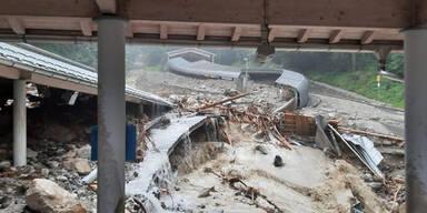 Hochwasser zerstört Kult-Rodelbahn