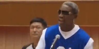 Skurril: Rodman singt für Kim Jong-Un