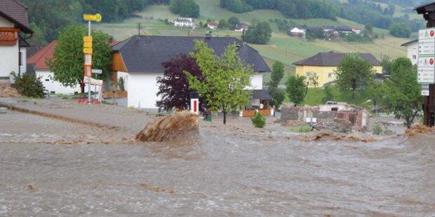 Starkregen in ganz Oberösterreich