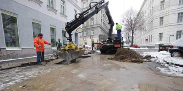 Sieben Millionen Liter Wasser nach Rohrbruch in Salzburg ausgeflossen