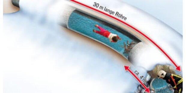 2-jähriger Vorarlberger steckte in Wasserrohr fest