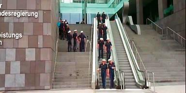 Rolltreppen-Training der Polizei