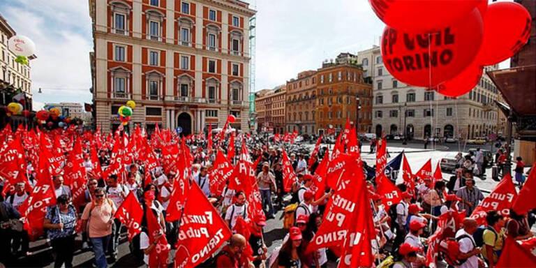 Großdemos gegen Berlusconi