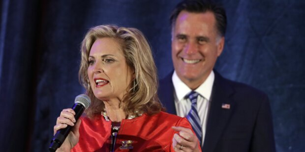 Schrecksekunde für Ann Romney