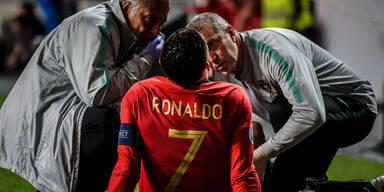 Nasenbluten & Verletzung: Ronaldo im Pech