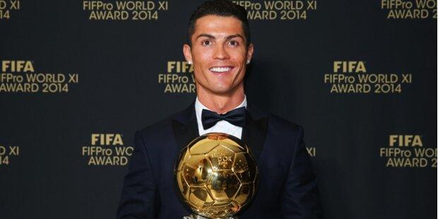 Cristiano Ronaldo ist Fußballer des Jahres 2014