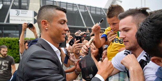 Hier trifft Ronaldo in Turin ein