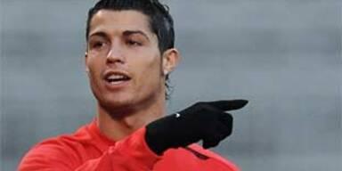 Christiano Ronaldo vor dem Spiel gegen Lyon