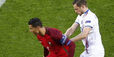 Portugal nur 1:1 gegen tapfere Isländer