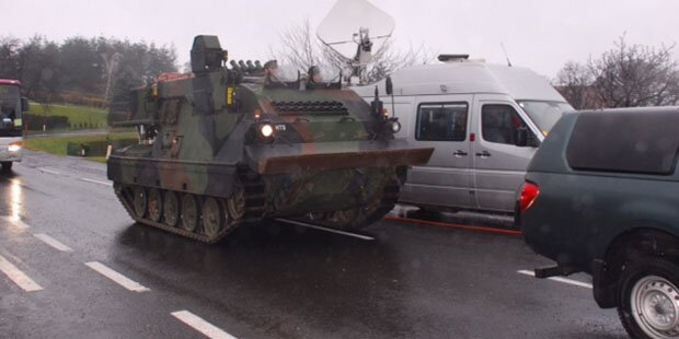 Rosalia: Bundesheer schickt Berge-Panzer