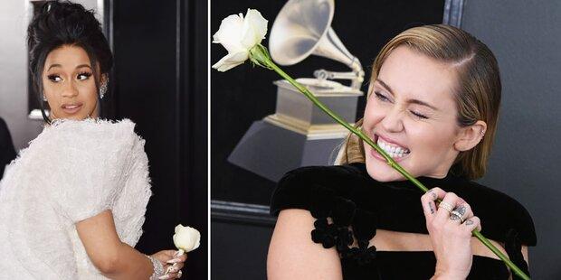 Grammys: Darum trugen Stars weiße Rosen