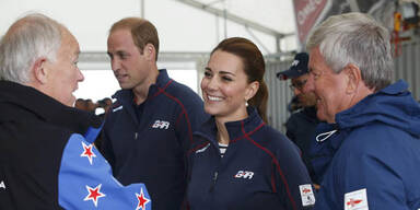 William und Kate besuchten Regattasegler