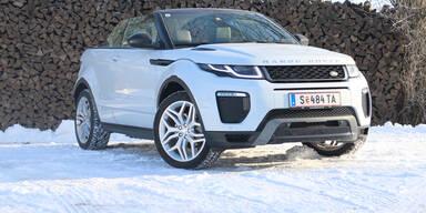 Range Rover Evoque Cabrio im Wintertest
