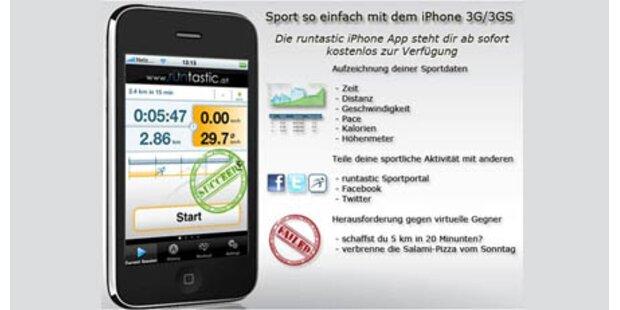 News von der tollen iPhone-App Runtastic