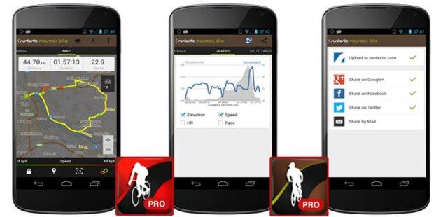 Runtastic macht Handy zum perfekten Fahrrad-Computer