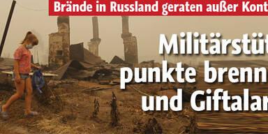 Atom-Gefahr durch Russland-Brände