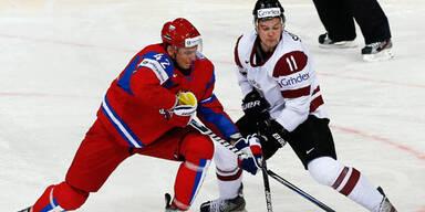 Mühevoller Sieg Kanadas - Russland stark