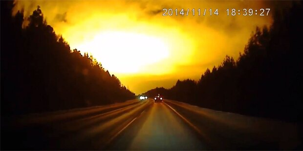 Mysteriöse Explosion am Himmel über Russland