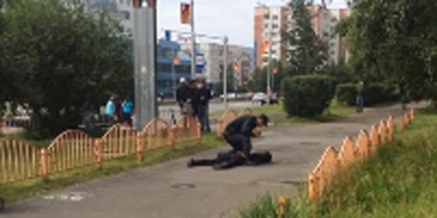 Messerangriff in Russland: Sieben Verletzte, Täter getötet