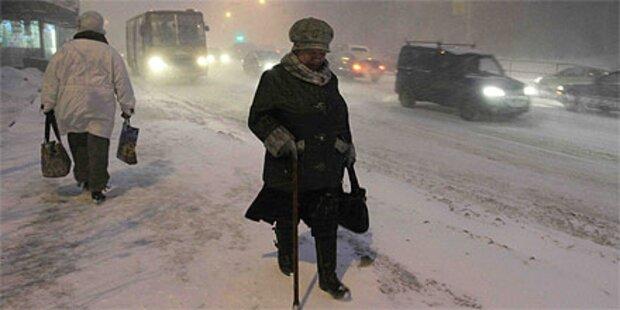Erste Kältetote in Moskau