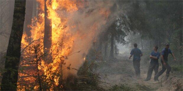 Feuer bedrohen das nächste russische AKW