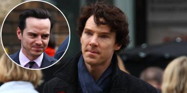 Benedict Cumberbatch als Sherlock und Andrew Scott als Moriarty