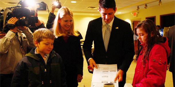 Paul Ryan wählt in Janesville