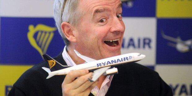 Ryanair will Flotte stark ausbauen