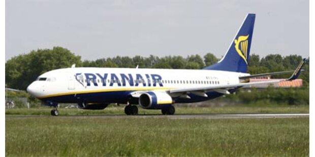 Ryanair-Jet musste in England notlanden
