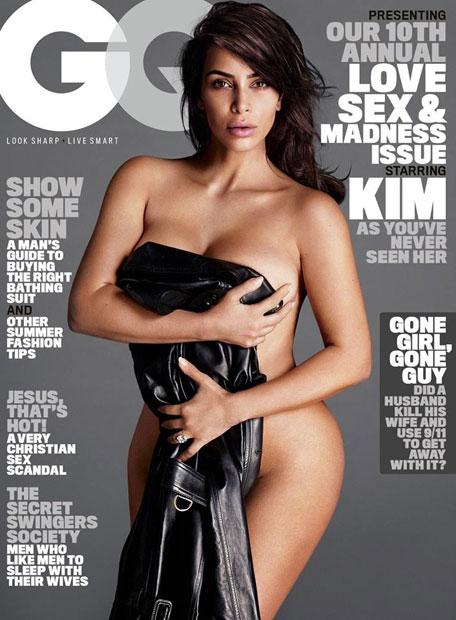 Kim Kardashian nackt in GQ