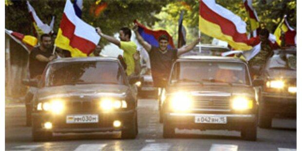 Freudenschüsse und Hupkonzerte in Südossetien