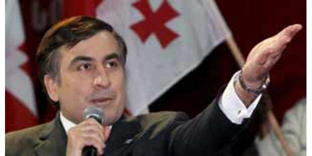 Saakaschwili vor Wiederwahl im ersten Anlauf