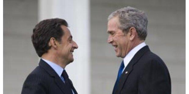 Nach Scheidung sucht Sarko Trost bei George Bush