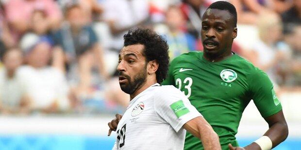 2:1 - Saudis schocken Salah & Co
