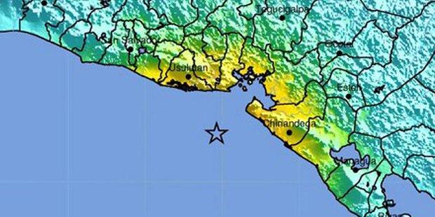 Schweres Erdbeben vor El Salvador