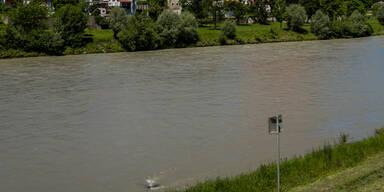 Hochwasserschutz Übung in Hallein