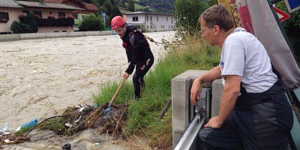 Hochwasser: Lage entspannt sich in Salzburg