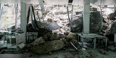 60 Tonnen Felsen krachten gegen Salzburger Haus der Stadtgeschichte