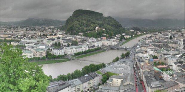 Unwetter: Starkregen in Salzburg