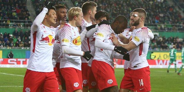 2:0 – Salzburg bezwingt Mattersburg