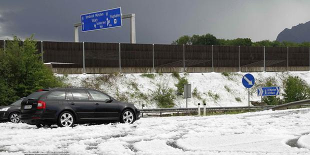 Salzburg: Erste Überflutungen
