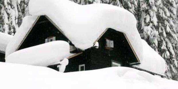 Salzburg und Tirol versinken im Schnee