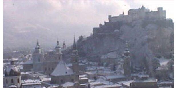 Salzburg ist tiefwinterlich