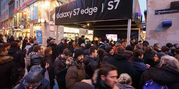 Galaxy S7: Mega-Andrang in Österreich