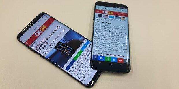 Samsung Galaxy S8 & S8+ im oe24.at-Test
