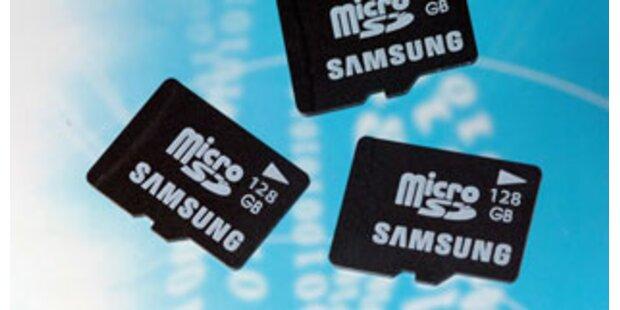 Samsung will 2009 Speicherkarte mit 128 GB bringen