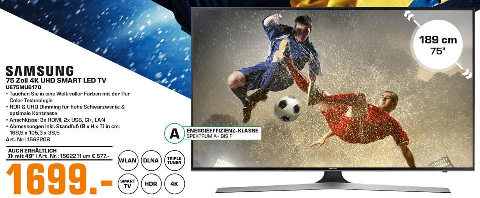 Riesiger 75 Zoll Samsung 4k Tv Zum Kampfpreis