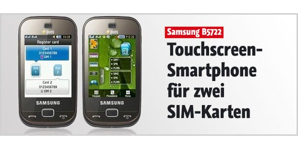 dual sim touch smartphone von samsung. Black Bedroom Furniture Sets. Home Design Ideas